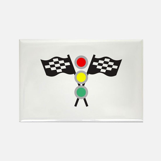 RACING FLAGS AND LIGHTS Magnets