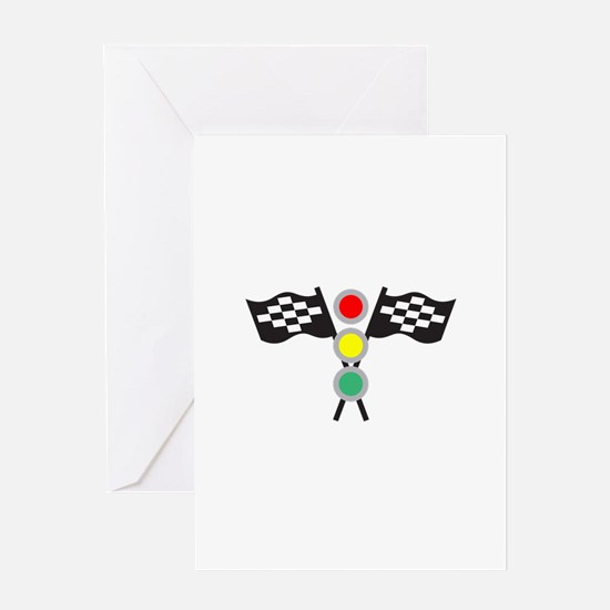 RACING FLAGS AND LIGHTS Greeting Cards