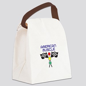 AMERICAN MUSCLE Canvas Lunch Bag