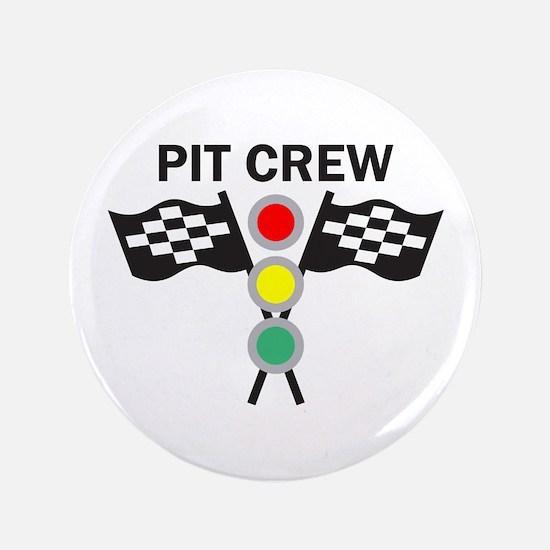 "CAR RACING PIT CREW 3.5"" Button"