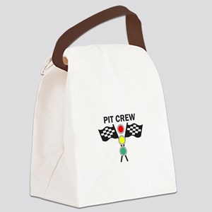 CAR RACING PIT CREW Canvas Lunch Bag