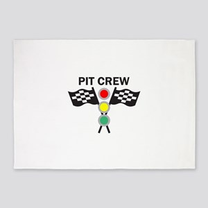 CAR RACING PIT CREW 5'x7'Area Rug