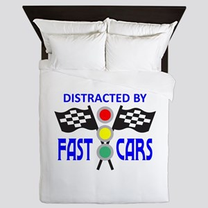 DISTRACTED BY FAST CARS Queen Duvet