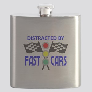 DISTRACTED BY FAST CARS Flask