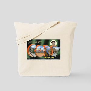 Cody Wyoming Greetings Tote Bag