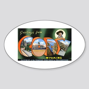Cody Wyoming Greetings Oval Sticker