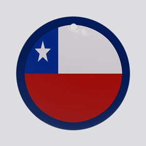"""Chile Flag"" Ornament (Round)"