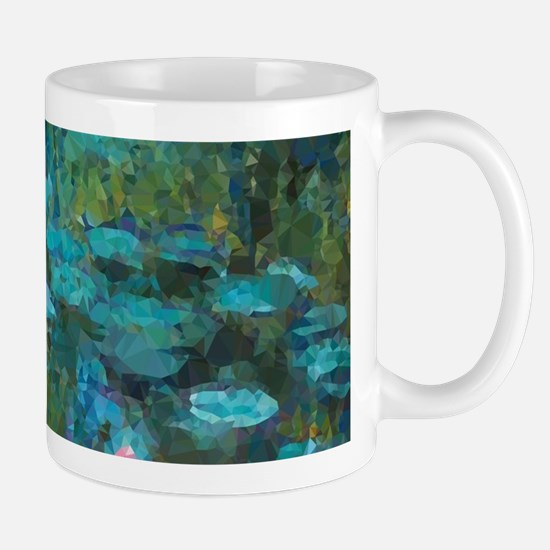 Monet Water Lilies Low Poly Mugs