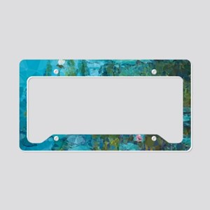 Monet Water Lilies Low Poly License Plate Holder
