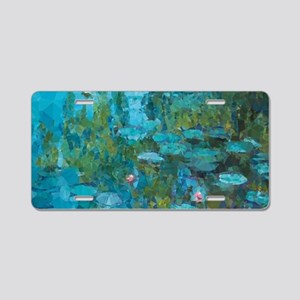Monet Water Lilies Low Poly Aluminum License Plate