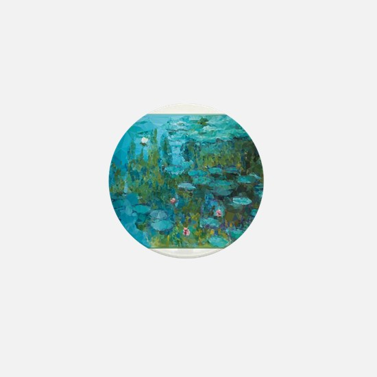 Monet Water Lilies Low Poly Mini Button