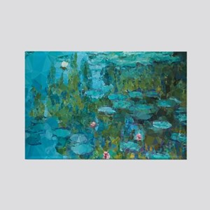 Monet Water Lilies Low Poly Magnets
