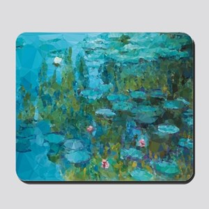 Monet Water Lilies Low Poly Mousepad