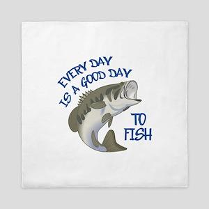GOOD DAY TO FISH Queen Duvet