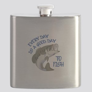 GOOD DAY TO FISH Flask