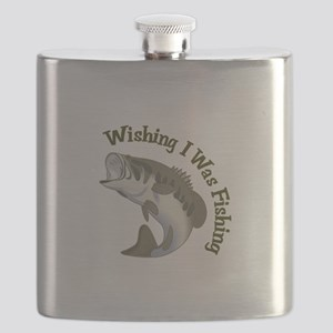 WISHING I WAS FISHING Flask