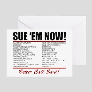 Better call saul greeting cards cafepress sue em now saul goodman greeting cards colourmoves