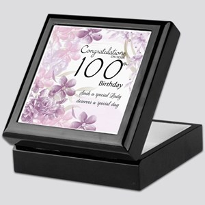 100th Birthday Floral Celebration - Keepsake Box