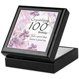 100th birthday Square Keepsake Boxes