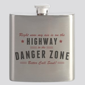 Saul Danger Zone Quote Flask