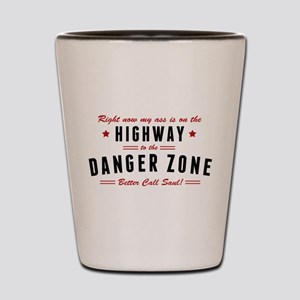 Saul Danger Zone Quote Shot Glass