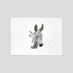The mini donkey wendy woo woo 5'x7'Area Rug
