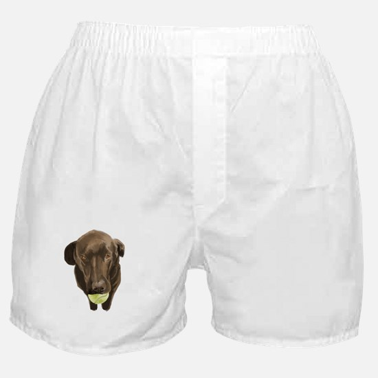 labrador retiever with a tennis ball Boxer Shorts
