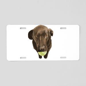 labrador retiever with a tennis ball Aluminum Lice