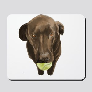 labrador retiever with a tennis ball Mousepad