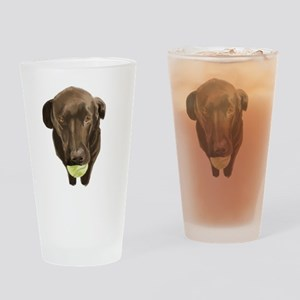 labrador retiever with a tennis ball Drinking Glas