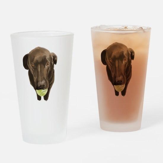 labrador retiever with a tennis ball Drinking Glas