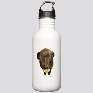 labrador retiever with a tennis ball Water Bottle