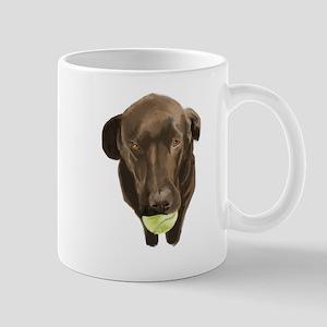 labrador retiever with a tennis ball Mugs