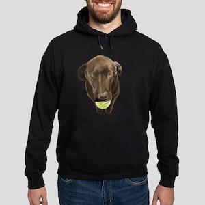 labrador retiever with a tennis ball Hoodie