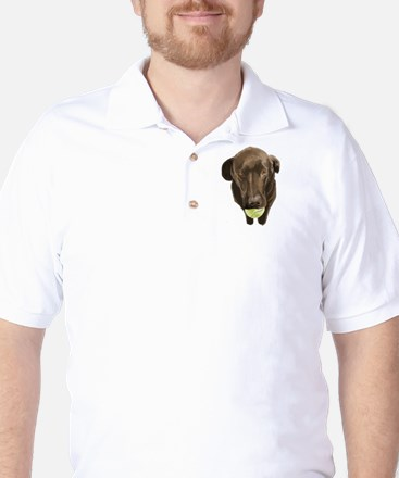 labrador retiever with a tennis ball Golf Shirt