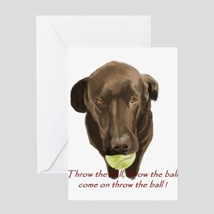 labrador retiever with a tennis ball Greeting Card