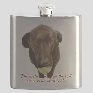 labrador retiever with a tennis ball Flask