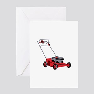 LAWN MOWER Greeting Cards