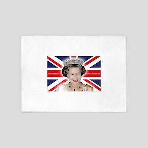 Majestic! HM Queen Elizabeth II 5'x7'Area Rug