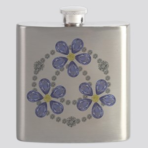 Forget Me Not Flowers Flask