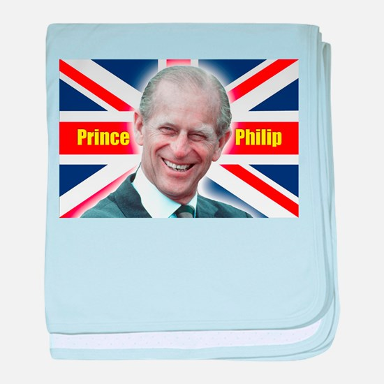 Great Britons! HRH Prince Philip baby blanket