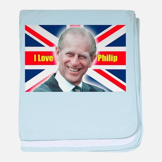 I Love Philip - HRH Prince Philip baby blanket