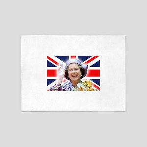 Stunning! HM Queen Elizabeth II 5'x7'Area Rug