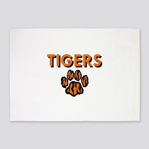 TIGERS AND PAW 5'x7'Area Rug