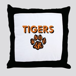 TIGERS AND PAW Throw Pillow
