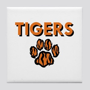 TIGERS AND PAW Tile Coaster