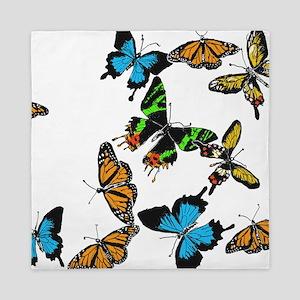 Colored Butterflies Queen Duvet