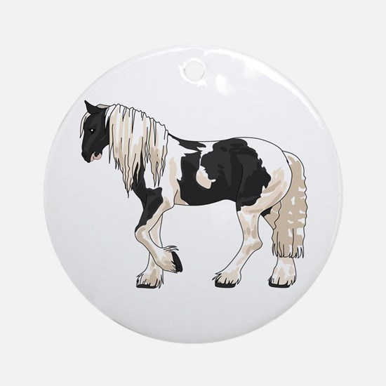 LARGER GYPSY VANNER Ornament (Round)