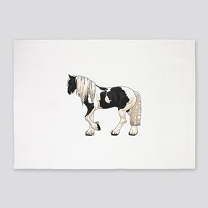 LARGER GYPSY VANNER 5'x7'Area Rug