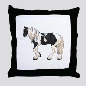 LARGER GYPSY VANNER Throw Pillow